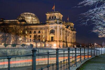 Наклейка Берлин Рейхстаг в ночное время