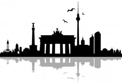 Наклейка Берлин Skyline Шаттена