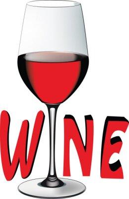 Наклейка bicchiere ди Vino Rosso