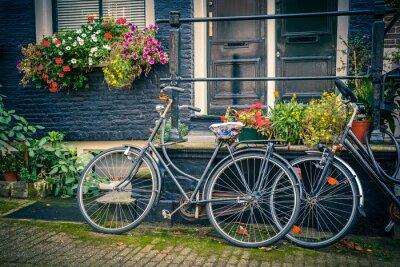 Наклейка Велосипеды в Амстердаме