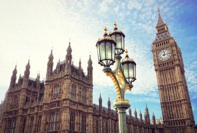 Наклейка Биг Бен и здания парламента в Лондоне