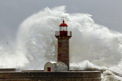Наклейка Большие волны бурные