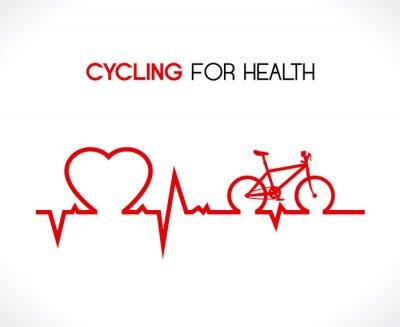 Наклейка Дизайн велосипеда