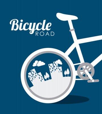 Наклейка Дизайн велосипеда, векторные иллюстрации.