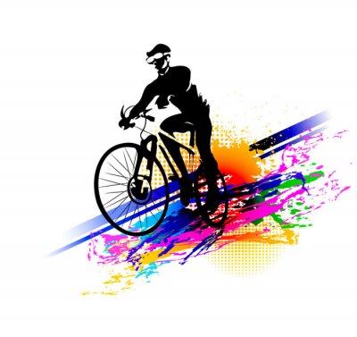 Наклейка Велоспорт. Векторные иллюстрации