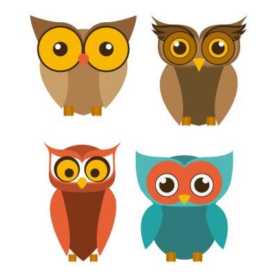 Наклейка Птица, векторные иллюстрации.
