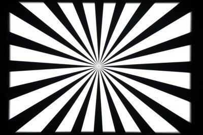 Наклейка Черно-белый узор тест