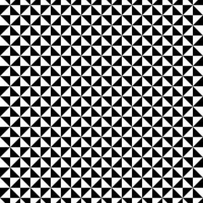 Наклейка Черный и белый шаблон треугольник