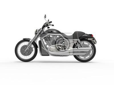 Наклейка Черный родстер велосипед - вид сбоку