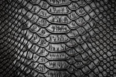 Наклейка Черная змеиная текстура кожи