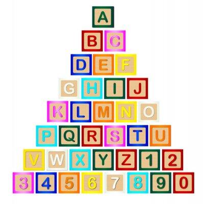 Наклейка Блок Письмо Пирамида