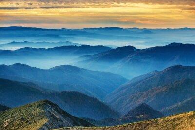 Наклейка Голубые горы и холмы