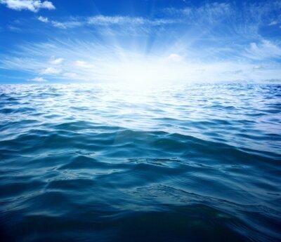 Наклейка Голубое море и солнце