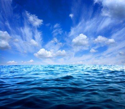 Наклейка Синий морской воды