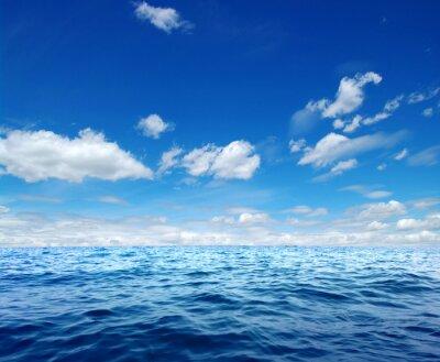 Наклейка Поверхность Синий морской воды
