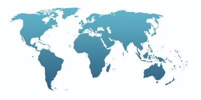 Наклейка blue world map