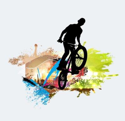 Наклейка Перемычка BMX во время трюка