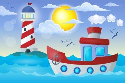 Наклейка Лодка тема изображение 2