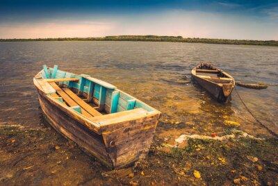 Наклейка Лодки на river_2