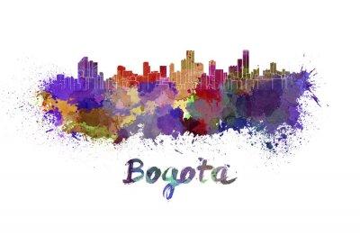 Наклейка Богота горизонт акварелью
