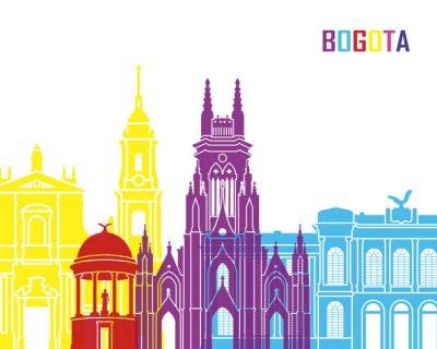 Наклейка Богота горизонта поп