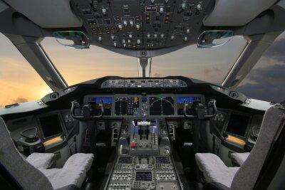 Наклейка Boing 787, Из кабины экипажа