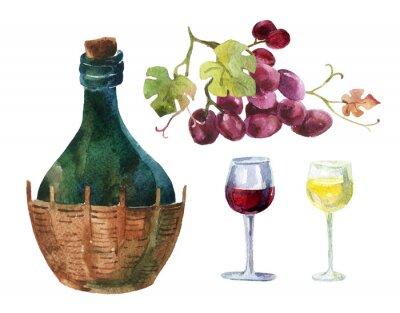 Наклейка Бутылки виноградной лозы