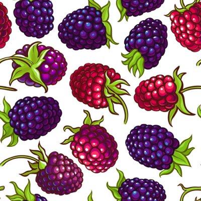 Наклейка boysenberry vector pattern