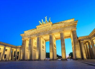 Наклейка Brandenburg Gate at night - Berlin - Germany