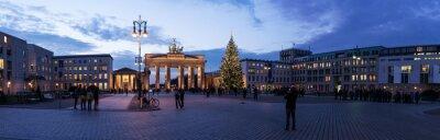 Наклейка Бранденбургские ворота панорама