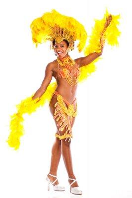 Наклейка Бразильской самбы танцор