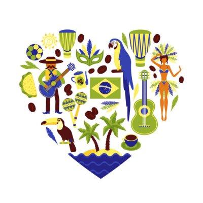 Наклейка Бразилия декоративный набор