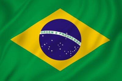 Наклейка Бразилия флаг
