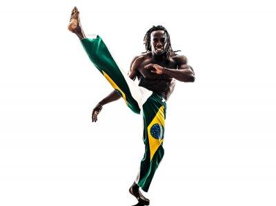Наклейка Бразильский черный человек Танцовщица капоэйра силуэт