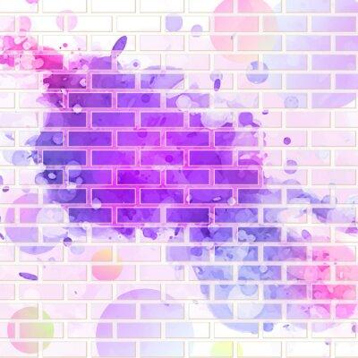 Наклейка кирпичная стена, граффити