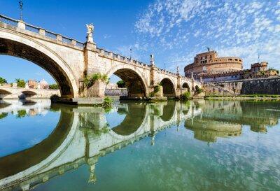 Наклейка Мост и замок Сант-Анджело в Риме