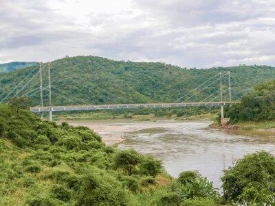 Наклейка Мост через реку в Замбии Луангва
