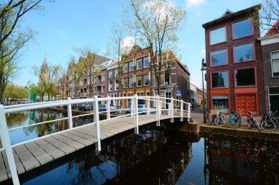 Наклейка Мост через каналов Делфте, Нидерланды