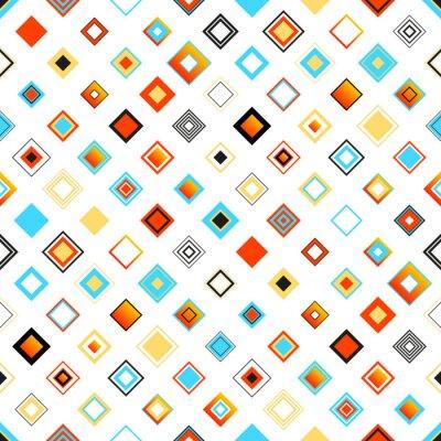 Наклейка Яркие красочные Бесшовные геометрический рисунок с квадратами
