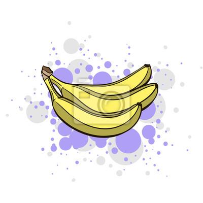 Наклейка Яркий сочный банан