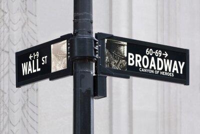 Наклейка Broadway UNS Уолл-стрит в Нью-Йорке