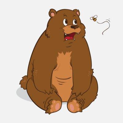Наклейка бурый медведь
