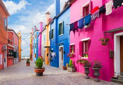 Наклейка Бурано остров, Венеция, Италия