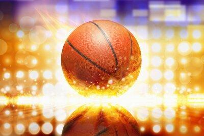 Наклейка Сжигание баскетбол
