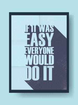 Наклейка Бизнес мотивационный плакат о тяжелой работе по сравнению с ленью на фоне старинных вектора. типографика сообщение Длинная тень