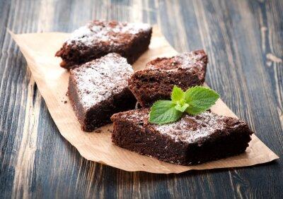Наклейка Торт шоколадный Брауни