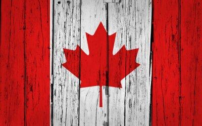 Наклейка Канада Флаг гранж фон