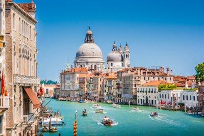 Наклейка Canal Grande с Базилика Санта-Мария делла Салюте, Венеция, Италия