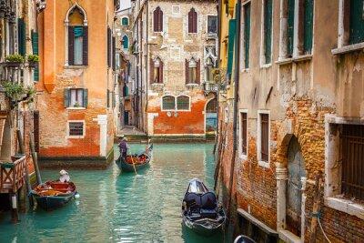 Наклейка Канал в Венеции