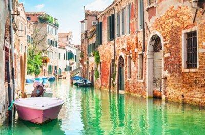 Наклейка Канал в Венеции, Италия.